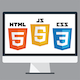 HTML, CSS, and Javascript for Web Developers course icon