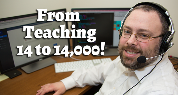 thumbnail for article on I Went From Teaching 14 to 14,000!
