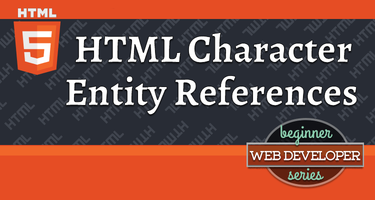 Html Character Entity References