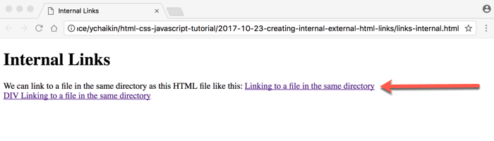 Creating Internal & External HTML Links